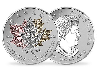 1 oz. Pure Platinum Coin – Maple Leaf Forever