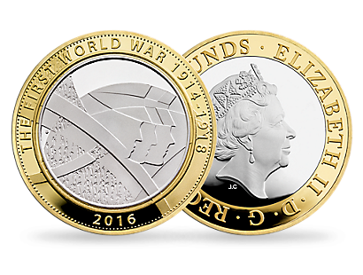 The Army 2016 £2 Silver Piedfort Coin