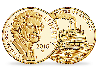 Mark Twain $5 Gold Coin