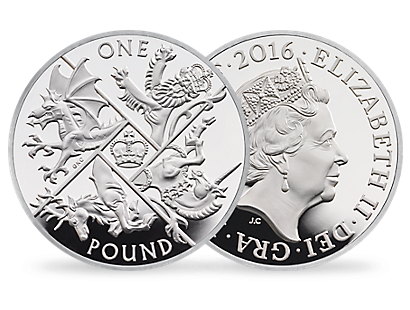'The Last Round Pound' £1 Silver Proof Coin 2016 UK