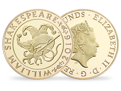 'The Shakespeare Comedies' £2 Gold Proof Coin 2016 UK