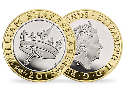 The Shakespeare Histories 2016 £2 Silver Proof Piedfort Coin