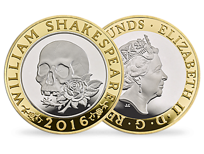 'The Shakespeare Tragedies' £2 Silver Proof Piedfort Coin 2016 UK