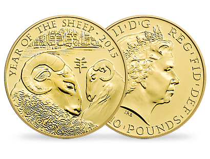'Lunar Year of the Sheep' Tenth-Ounce Gold BU Coin £10