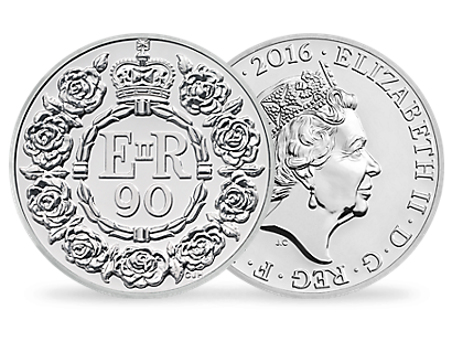 The Queen's 90th Birthday 2016 UK £20 Fine Silver Coin