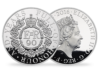 The 90th Birthday of Her Majesty The Queen 2016 UK Silver Proof Kilo Coin - £500