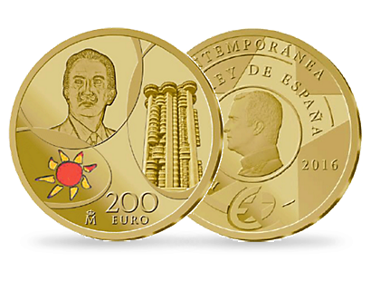 200 Euros Gold Spain 2016 - The Contemporary Era