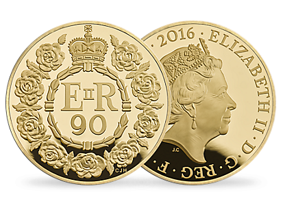 The 90th Birthday of Her Majesty The Queen 2016 United Kingdom Gold Proof Five-Ounce Coin