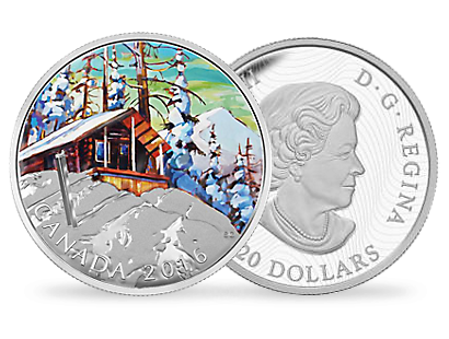 Canadian Landscape Series - Ski Chalet $20 Fine Silver Coin