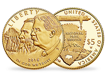 $5 Gold coin - Centenary of the National Park Service