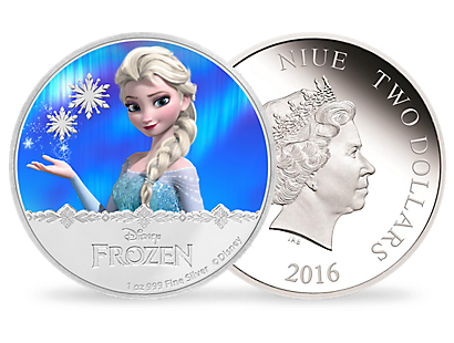 Disney Frozen 1oz Pure Silver Coin - Elsa