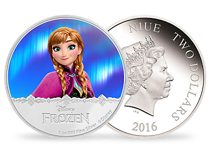 Disney Frozen Magic of the Northern Lights - Anna 2016 1oz Silver Coin