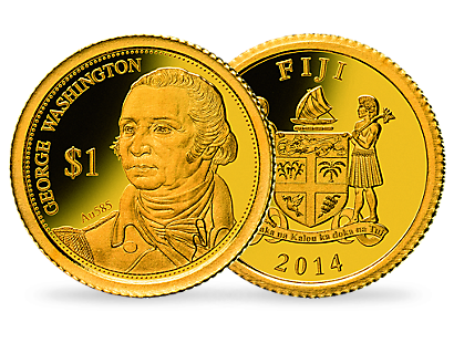 A genuine Fiji George Washington 2014 Coin