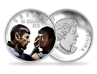 Iconic Star Trek Scenes 2016 - Mirror, Mirror 2oz Pure Silver Coloured Coin