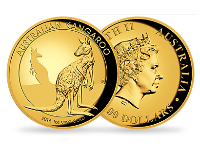 2016 $100 Kangaroo gold coin