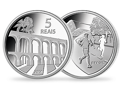 The official Olympic coins from Brazil for Rio in 2016 - Set of 4: theme 'Architecture'
