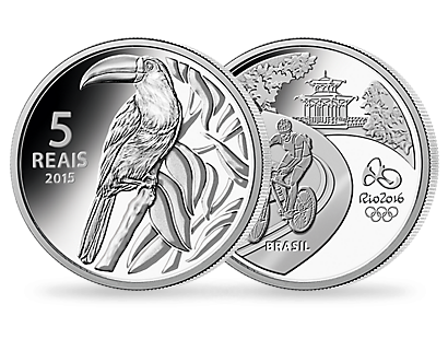 The official Olympic coins from Brazil for Rio in 2016 - Set of 4: theme 'Wildlife'