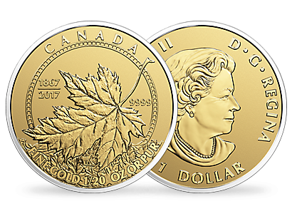 Pure Gold Maple Leaf Fractional Set – A Celebration of Canada 1867-2017