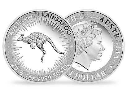 2016 silver Australian Kangaroo set of 4