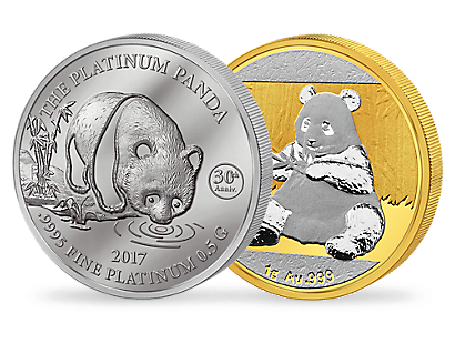 Platin-Panda Jubiläums-Set