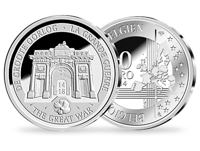 100 Years of the Great War 10 Euro Silver Coin 2014