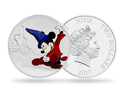 Mickey Through the Ages – Fantasia 1 oz Silver Coin