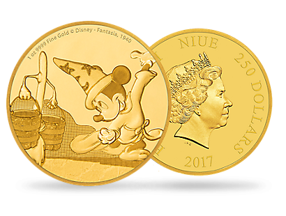 Mickey Through the Ages – Fantasia 1 oz Gold Coin