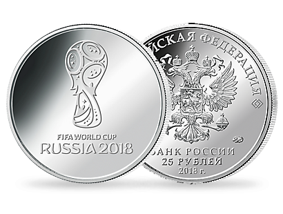 <p>2018 FIFA World Cup Russia<sup>TM</sup> 25 Rouble Official Emblem Coin</p>