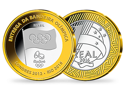The official Olympic coins of Brazil for Rio 2016 - The complete set