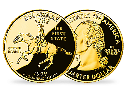 The American Golden Quarter Dollars Collection