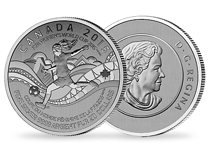 $20 Fine Silver Coin – FIFA Women's World Cup Canada 2015