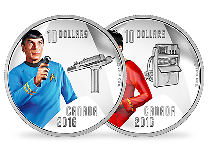 Fascinating: The Collection of the Official Silver Commemorative Coins Celebrating 50 Years of Star Trek