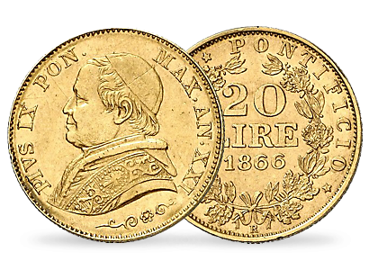 20 Lire Or Pie IX