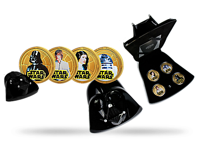 Official Star Wars 4 Coin Set