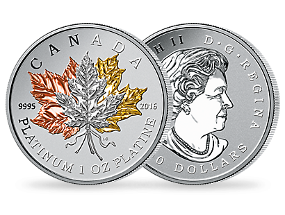 Monnaie de 300 Dollars en platine pur « Maple Leaf » 2016