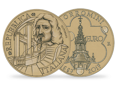 350th Anniversary of the Death of Francesco Borromini €20 Gold Coin