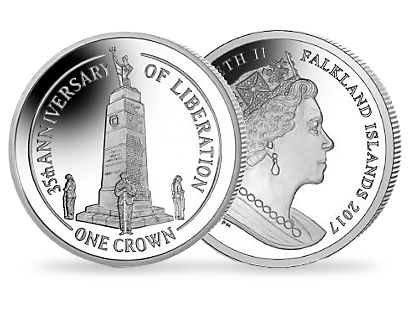 35th Anniversary of the Liberation of the Falklands - 2017 Proof Sterling Silver Coin