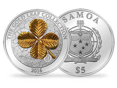 Four Leaf Clover 2016 - 1oz 3D Gold Plated & Silver Coin