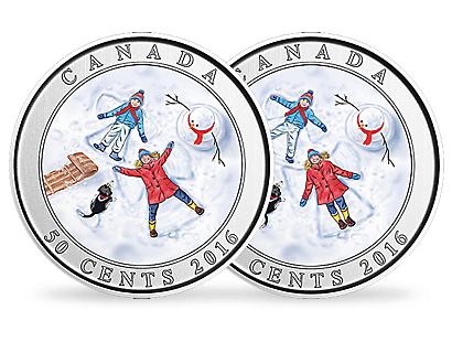 3D Snow Angels 2016 Nickel-Plated Steel Coin