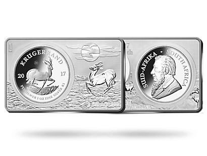 Krugerrand 50th Anniversary 2017 Premium Silver Proof Bar