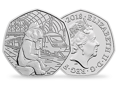60th Anniversary of Paddington Bear – Paddington Bear at Paddington Station 2018 Brilliant Uncirculated 50p Coin