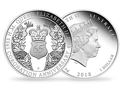 65th Anniversary of the Coronation of Her Majesty the Queen 2018 1oz Silver Proof Coin