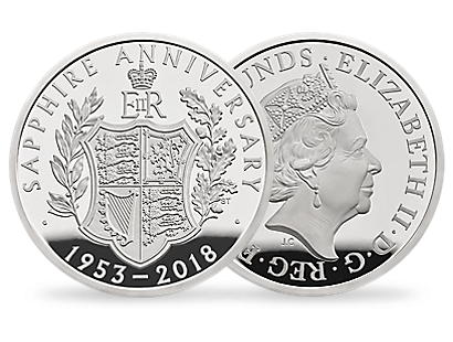 The 65th Anniversary of The Coronation of Her Majesty The Queen 2018 £5 Silver Proof Coin