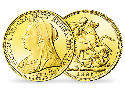 Queen Victoria Veiled Head Gold Half Sovereign