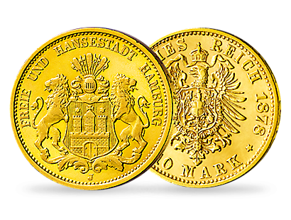 Deutsches Reich/Hamburg 10 Mark 1875-1888