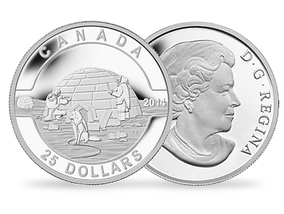 O Canada Gift Set 2015 - Igloo 1oz $25 Fine Silver Coin
