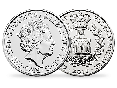 The Centenary of the House of Windsor 2017 £5 Brilliant Uncirculated Coin