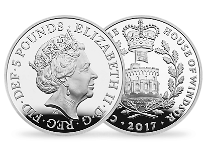 The Centenary of the House of Windsor 2017 £5 Silver Proof Piedfort Coin