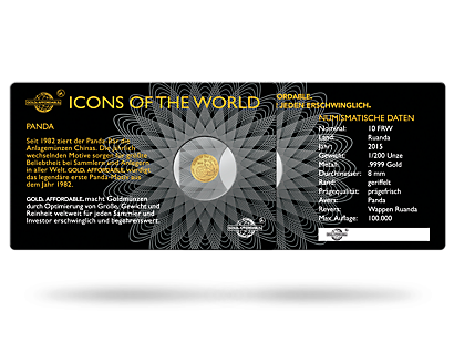 Gold Cards - Icons of the World