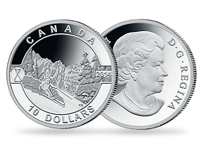 Ski Slopes 2014 Canadian Silver Coin